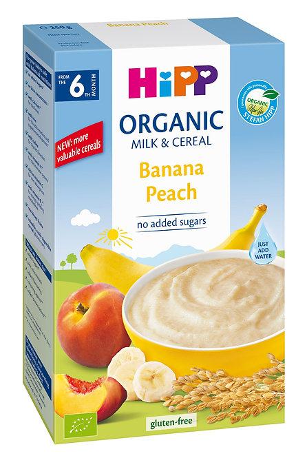Organic Milk Pap Banana Peach 250g