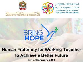 Bring Hope at the International Human Fraternity Summit