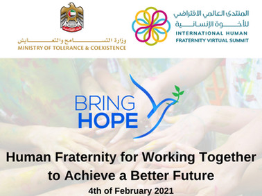 Bring Hope at the International Human Fraternity Summit