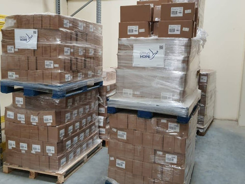Distribution of 120.000 hygiene items to Sierra Leone