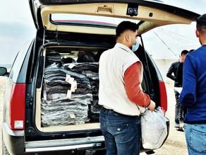 Distribution in Shariya Camp 120221
