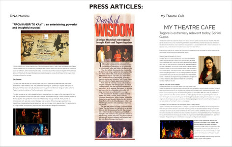 Press articles on the work of Pranay and Sohini Gupta