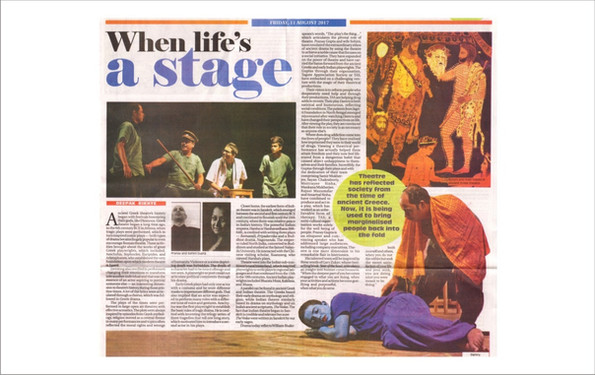 Press Article on the philanthropic work of theatre personality duo Pranay Gupta and Sohini Gupta & their foundation TAS