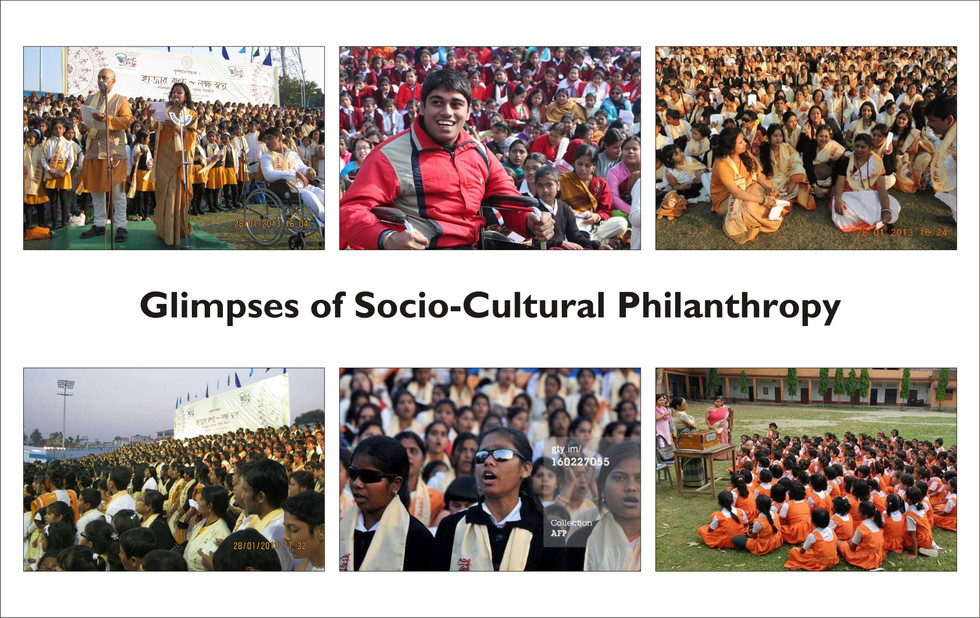 Glimpses of the socio-cultural philanthropic initiatives of TAS - Tagore Appreciation Society - founded by Pranay Gupta and Sohini Gupta