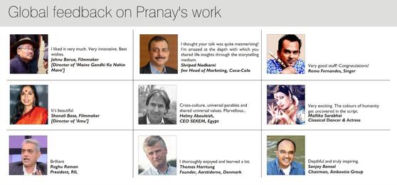 Global feedback on the work of Pranay Gupta