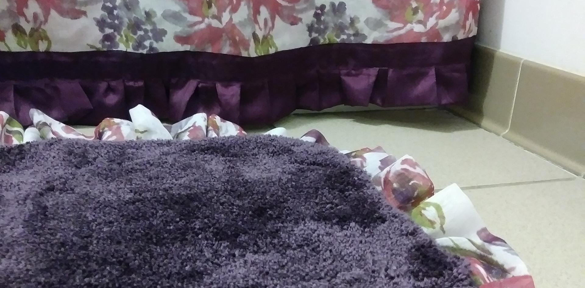 Purple Shower Rug