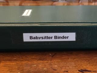 Creating a Babysitter Binder...