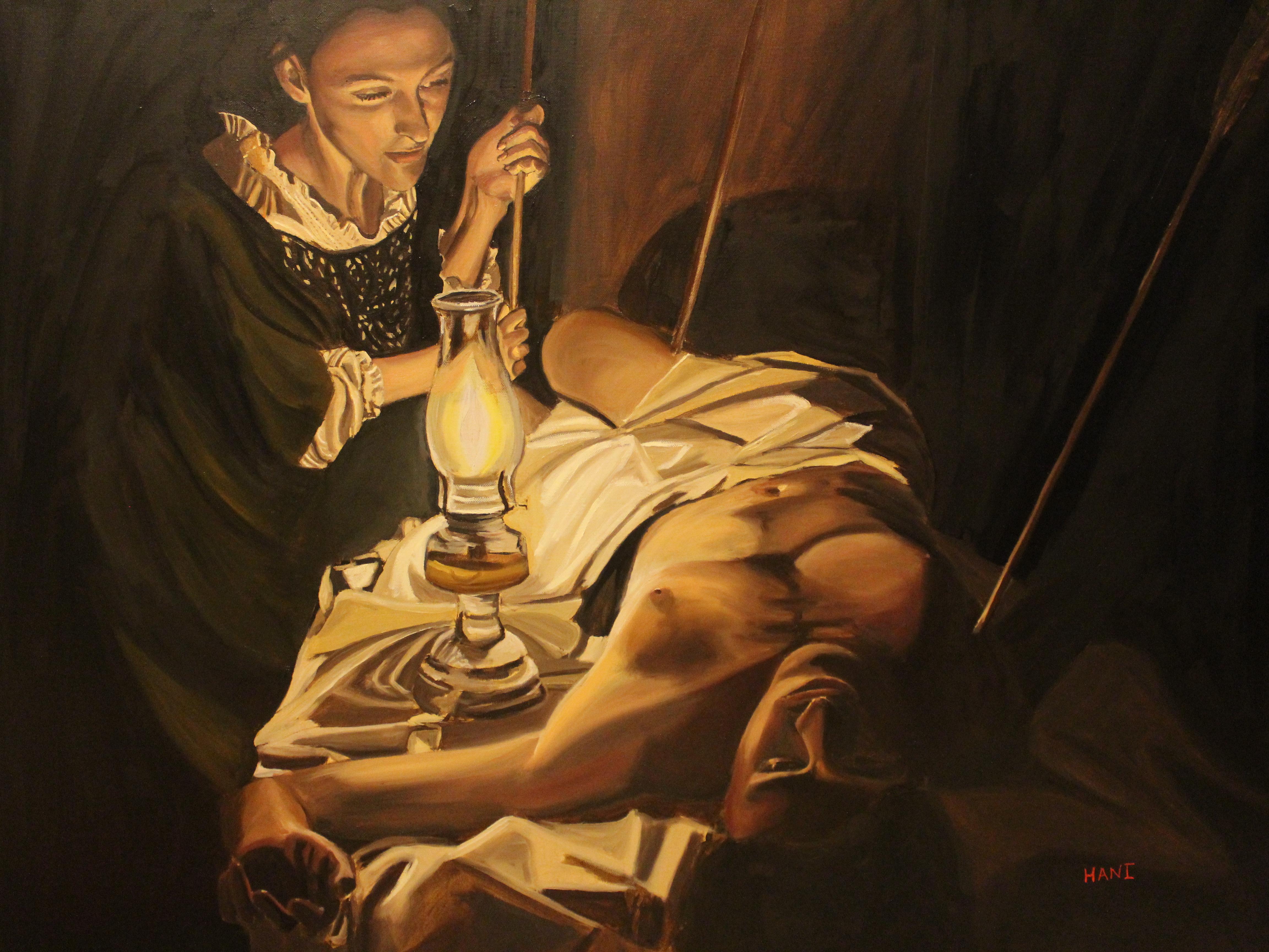 St Irene tending the wounds of St.Sebastian