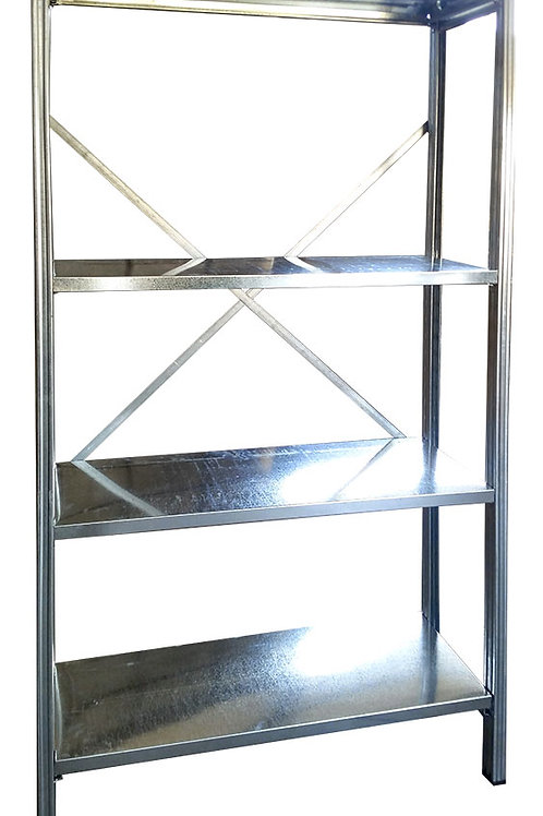 Light duty shelving unit 200cm High x 126,5cm Wide x 40cm Deep