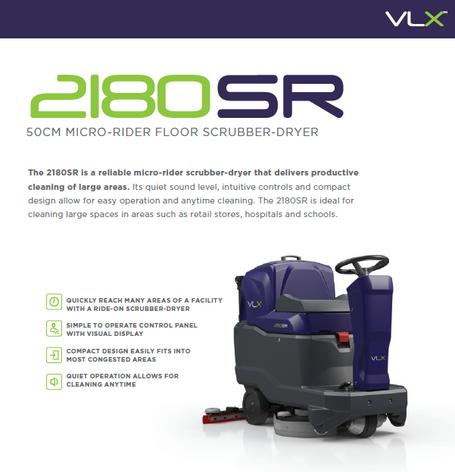 2180 ride on scrubber/dryer