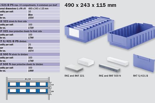 RK 521B (490 x 243 x 115 mm)
