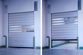 The fast door for thermally regulated zones with humidity