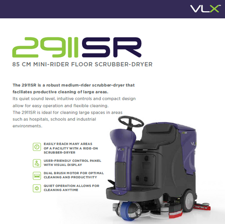 2911 ride on scrubber/dryer