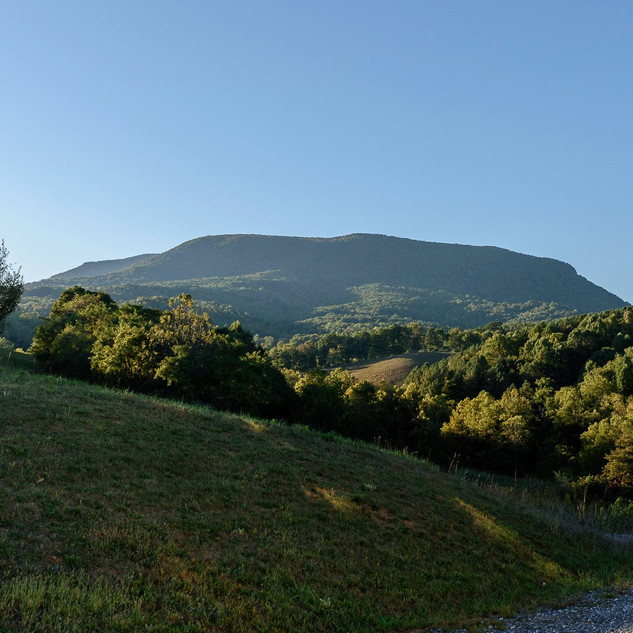 Looking up at House Mountain