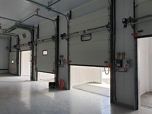 Insulated overhead dock doors
