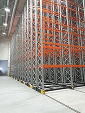 SSI Schaefer mobile rack system
