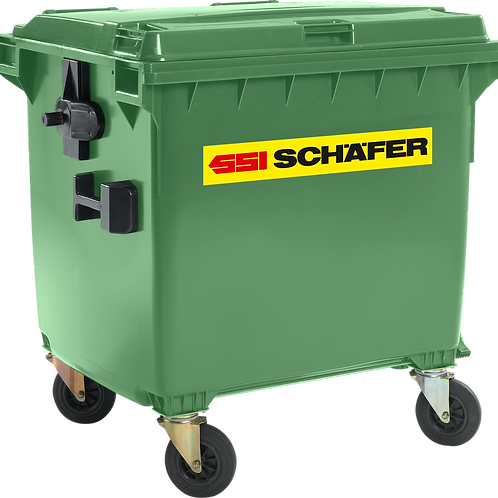 Waste container MGB 1100, plastic, flat lid, 1100 L