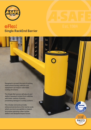 eFlex single rack end barrier