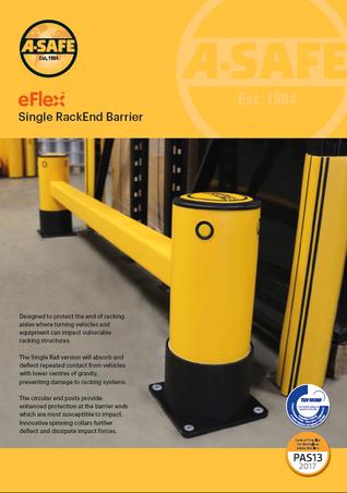 eFlex single rack end barrier