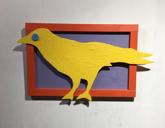 Blue Eyed Crow   28 x 15