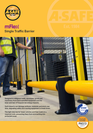 mFlex single traffic barrier