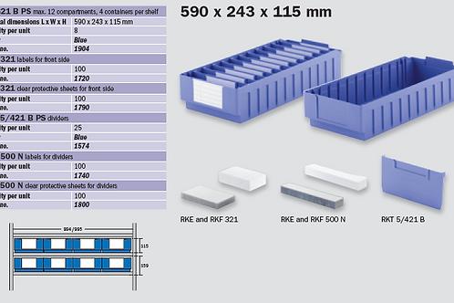 RK 621B (590 x 243 x 115 mm)