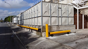 A-SAFE barrier to protect water tank (ZORBAS BAKERIES)