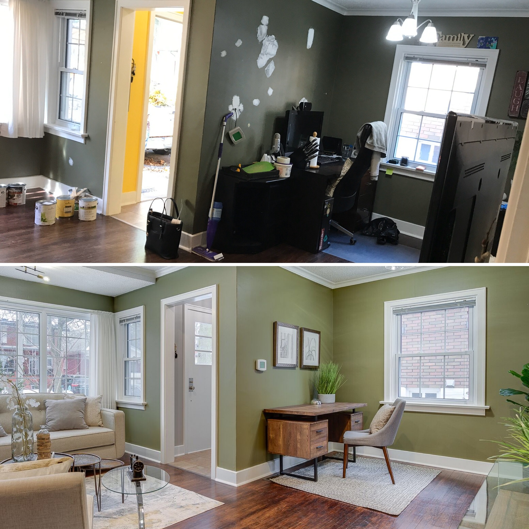 Vacant Staging | Living Room & Office Space Transformation