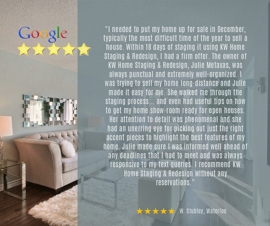 Google Review | Vacant Staging Services