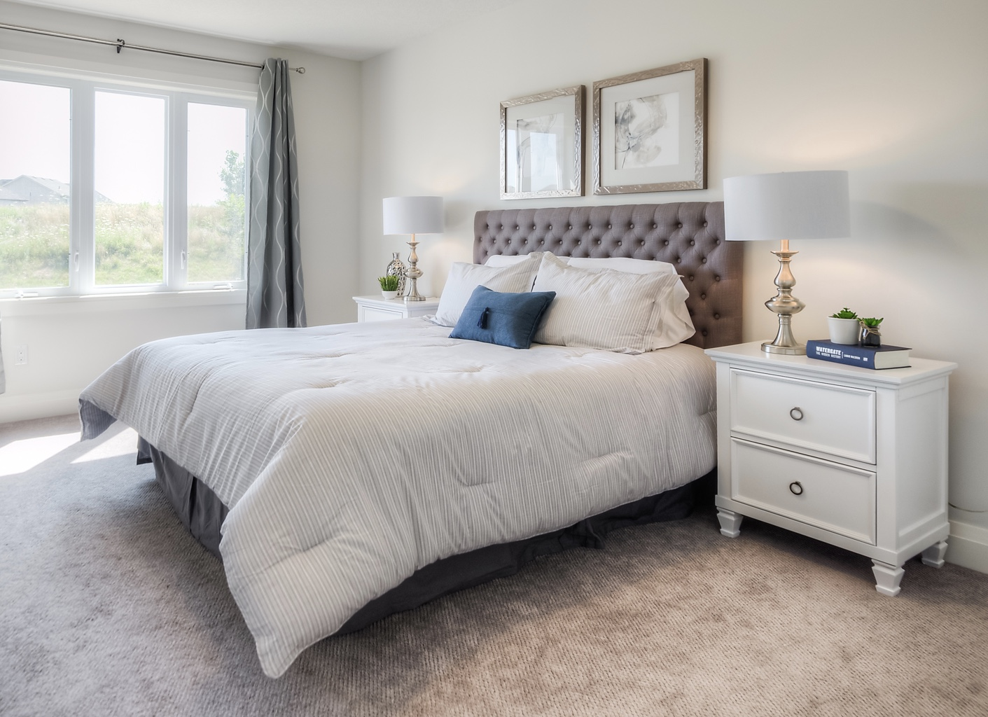 Master Bedroom Staging