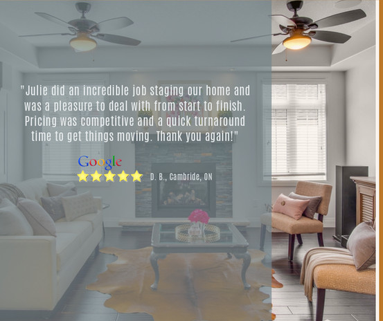 Google Review | Staging Rentals & Staging Services | Owner-Occupied Home