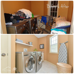 Occupied Home | Laundry Room Staging
