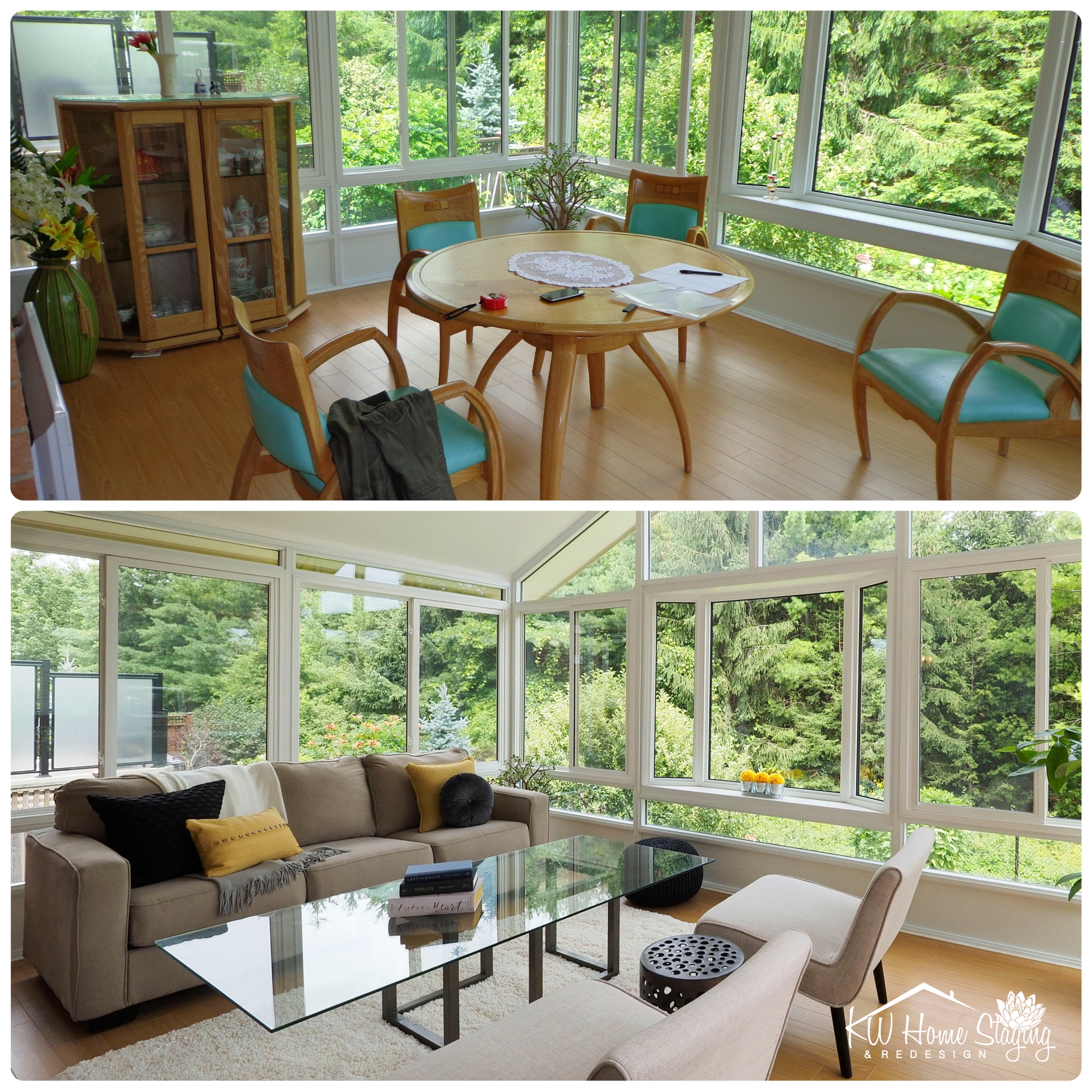 Occupied Home | Sunroom Staging