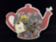Valentine's Teatime.   Teapot FoldIt from Stamps of Life