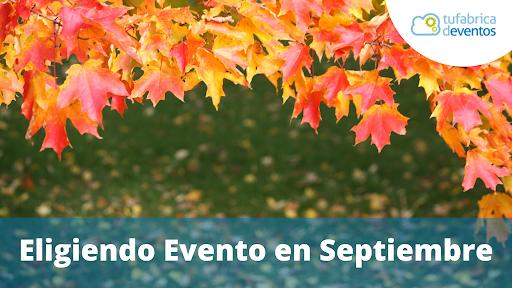Creando un evento en septiembre