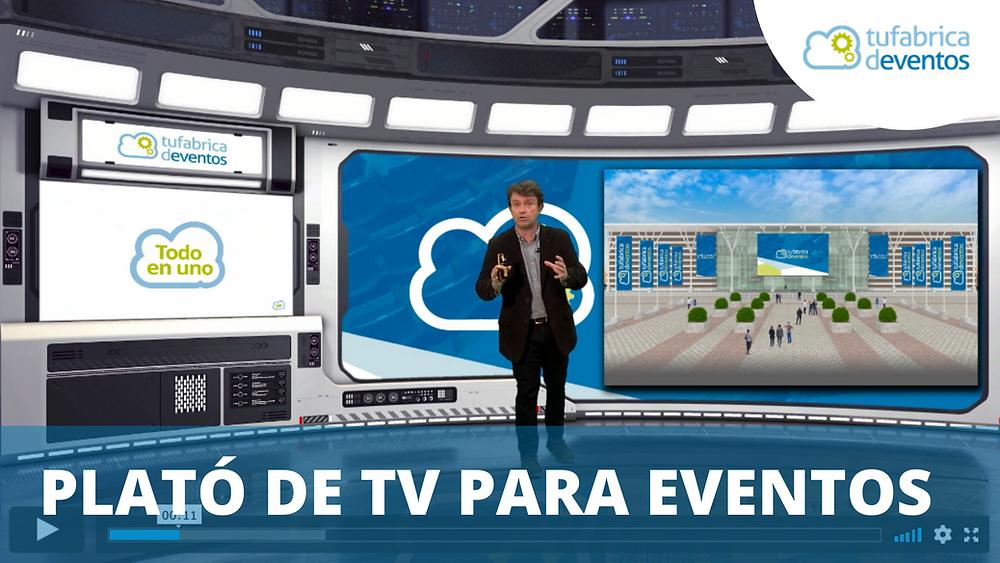 Plató de TV para eventos