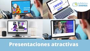 Cómo crear presentaciones atractivas para tu evento