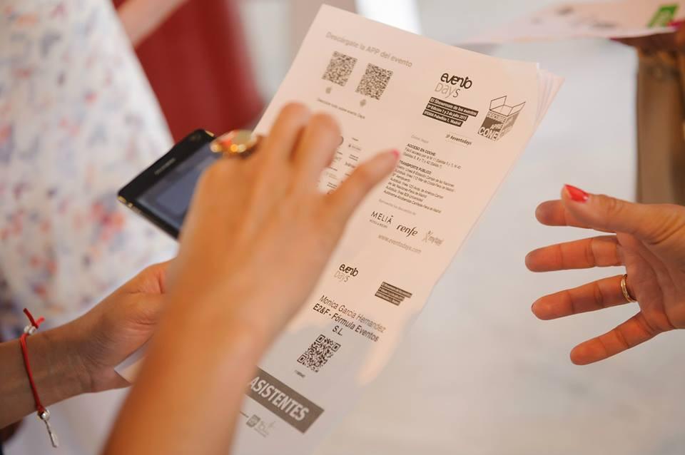 Imagen de sistema de acreditación para eventos con el móvil