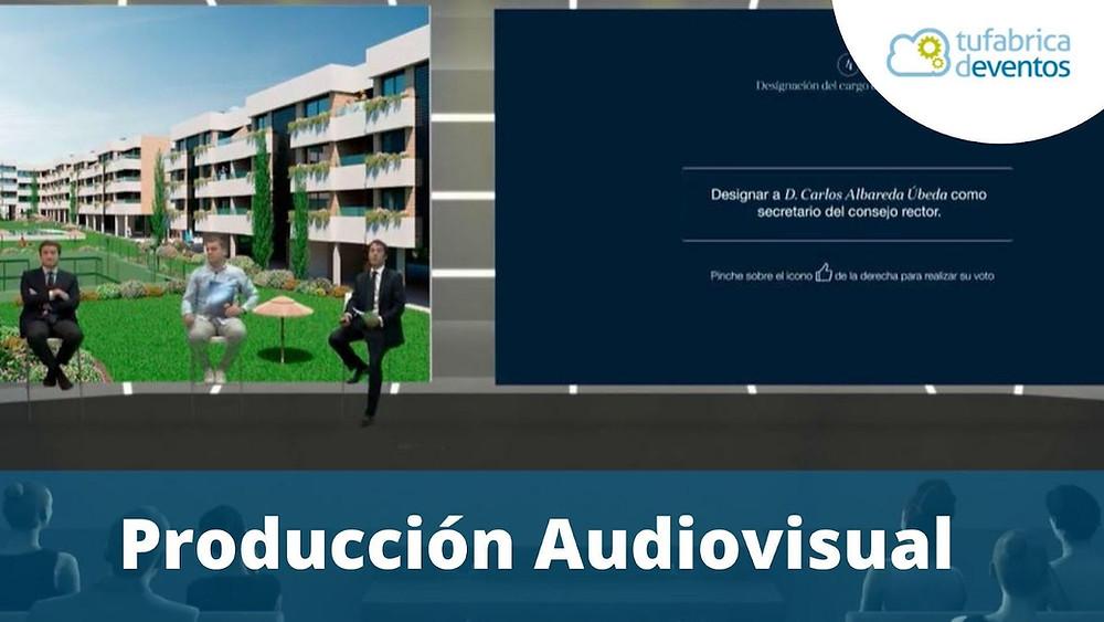 Producción audiovisual: Ejemplo de evento virtual e híbrido