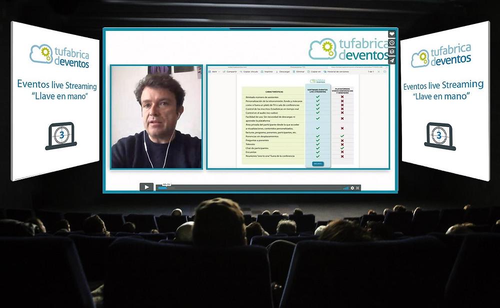 Software para la gestión de eventos online live streaming o eventos virtuales con Tu Fábrica de Eventos