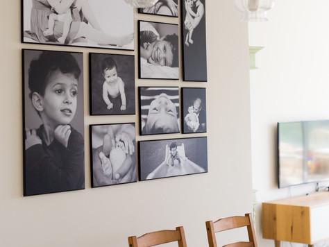 קיר תמונות משפחתי- איך עושים את זה?