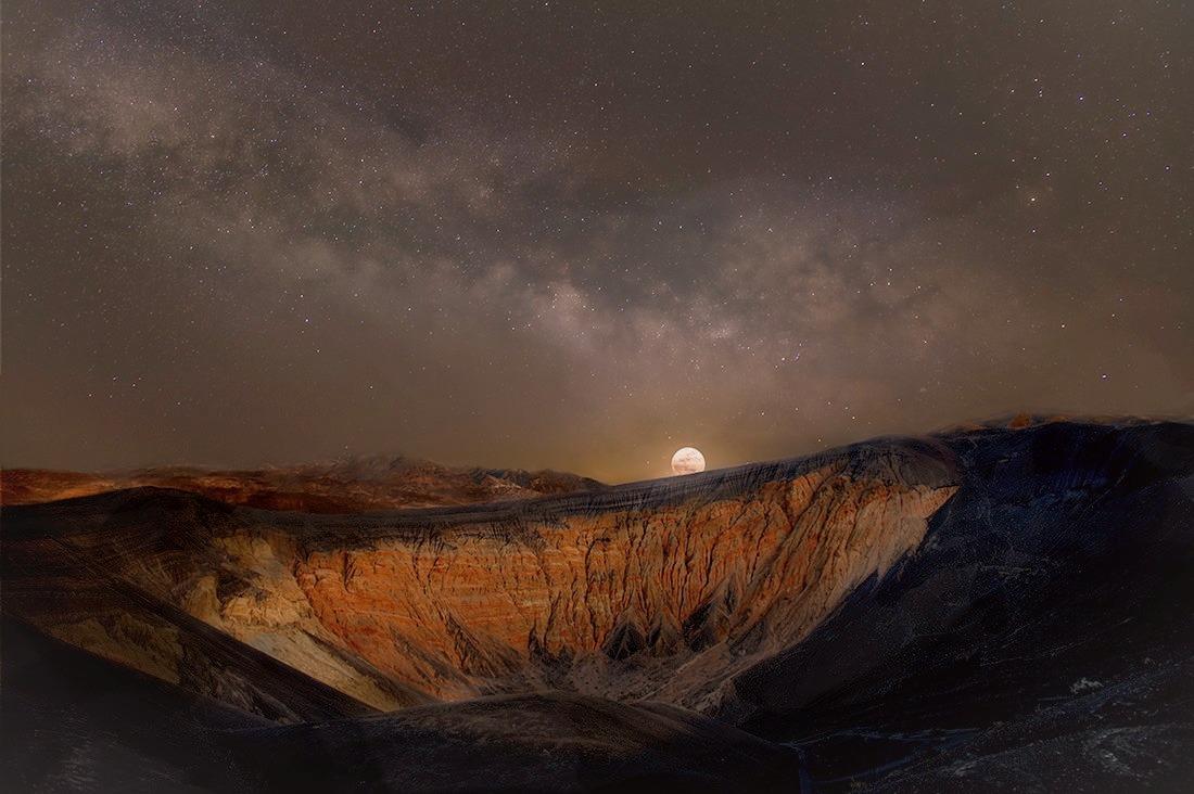 Moon Over Ubehebe