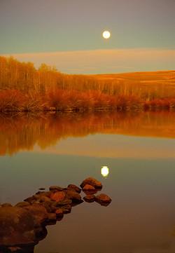 Fall Moon Rise