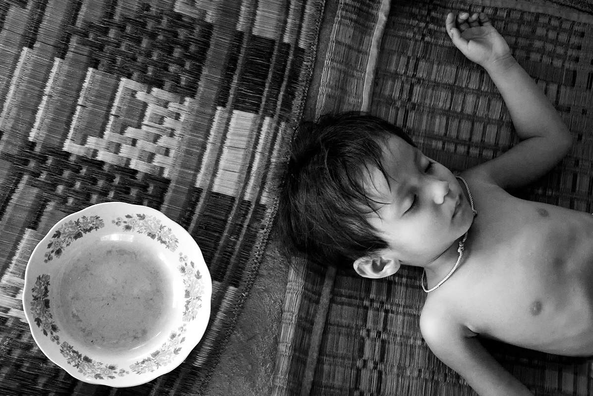 Sleeping Boy and Dish