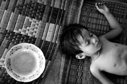 Sleeping Boy and Dish