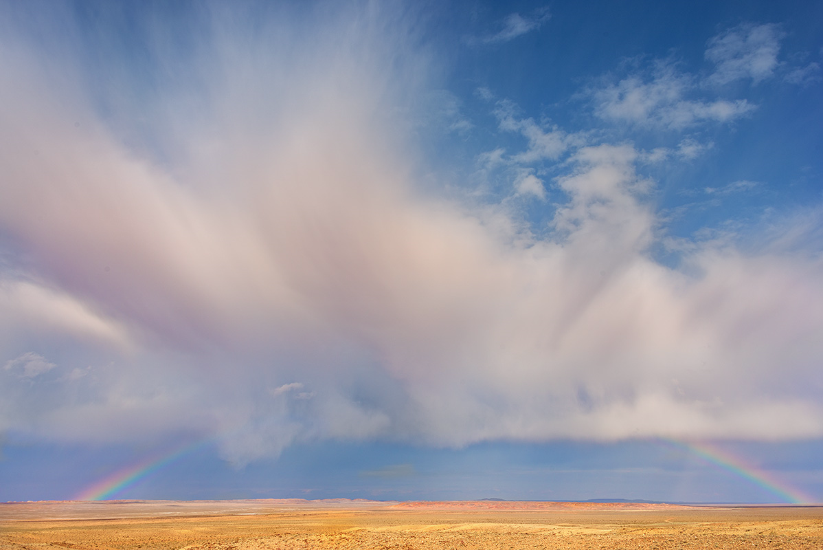 Storm Clouds and Rainbow