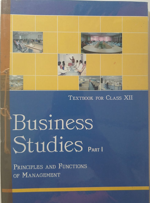 NCERT BUSINESS STUDIES BOOK FOR CLASS 12th PART- 1