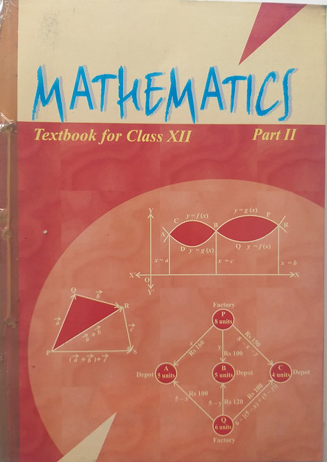 NCERT MATHEMATICS PART -2 BOOK FOR CLASS 12th