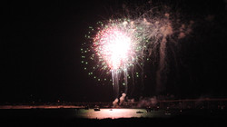 Front row seat to fireworks from the balcony