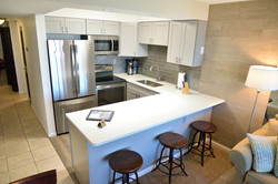 New larger kitchen